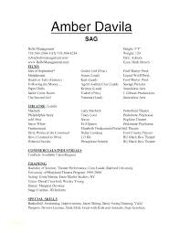 Sample Child Actor Resume Template Theater Format Acting Examples