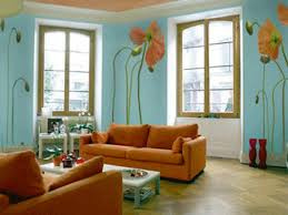 Contemporary Apartment Living Room With Soft Blueish Wall Color - Paint colors for sitting rooms