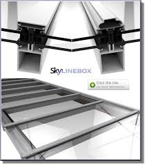 our skyline box range of glazing bars offer an economical roof glazing solution when compared with curtain walling roofing systems