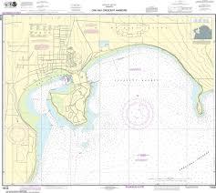 Noaa Nautical Chart 18428 Oak And Crescent Harbors