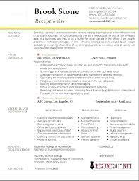 Receptionist Resume Sample Megakravmaga Com