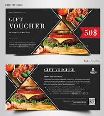 Food Voucher Template Gorgeous 48 Premium And Free PrintReady Gift Voucher PSD Templates 48
