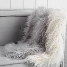 faux fur chair throw