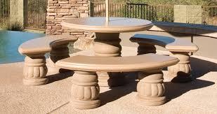rosonne round concrete landscape tables rosonne round outdoor concrete tables