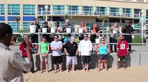 als ice bucket challenge team at hilton garden inn virginia beach oceanfront