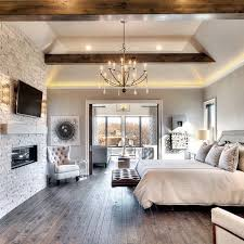 master bedroom ideas with fireplace. Loving The Mix Of Stone Fireplace And Wood Beams, Cozy Inviting! By Starr Homes Master Bedroom Suite Chandelier Lighting Ideas With I