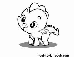 Baby Dragon Coloring Pages Online Free Fantasy Flying Cute Kawaii