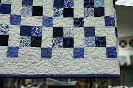 Quilting By The Yard: Blue & White Jelly Rolls Back In Stock! & Close-up of the Blue Lagoon quilt Adamdwight.com