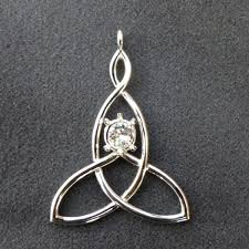 custom design platinum mother child knot pendant