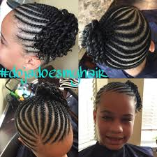 Natural Hairstyles Ponytails Natural Kids Hair Styles Braids And Two Strand Twist Ponytail