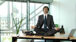 meditation in office. HD Rights Managed Stock Footage # 908-282-726 Meditation In Office P