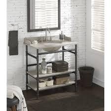open shelf vanity. Modren Open 36inch Industrial Open Shelf Vanity With Backsplash With