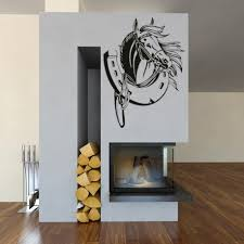 horse and horseshoe vinyl wall stickers home decor  on horse wall art decal with horse and horseshoe vinyl wall art stickers horse wall decal
