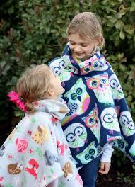 Fleece Poncho Pattern With Hood Extraordinary 48Minute Cowl Neck Fleece Poncho Tutorial Gluesticks