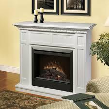 dimplex ca 48 inch electric fireplace mantel standard logs white dfp4743w