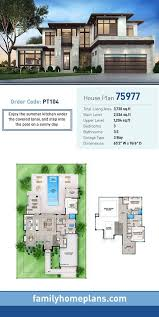 modern style house plan 75977 with 3