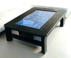 a 46 inch multitouch coffee table computer ties your living room within coffee table computer ideas