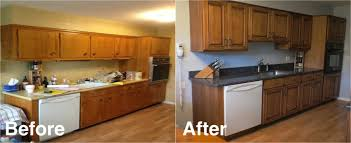 resurfaced kitchen cabinets before and after on 550x367 kitchen