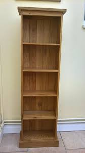 small solid wood freestanding shelving unit