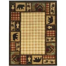 cabin area rugs mountain top beige ft x ft area rug cabin area rugs 8x10