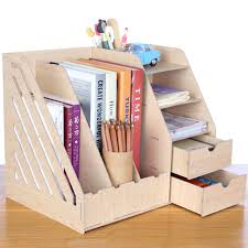 office shelving solutions. Large Wooden Desk Storage Rack Box Finishing Boxes 4 Folder Office Shelving Products Solutions O