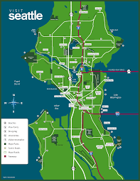 map of seattle inside map of seattle wa  roundtripticketme
