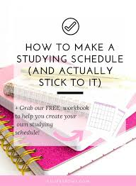 Make College Schedule Online Struggling To Make A Studying Schedule That You Will Actually Stick
