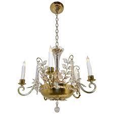 maison baguès style crystal leaf chandelier or pendant light for