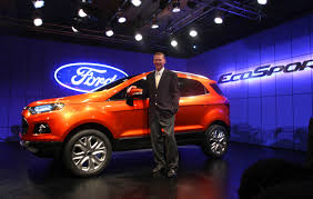 ford president car. alan mulally, president and ceo of ford motor company unveils ford\u0027s new compact suv ecosport car p