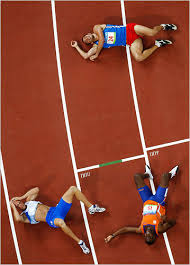 Image result for exhausted runner at finish line