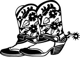 Free Coloring Pages Of Cartoon Cowgirl Boots 6753 Bestofcoloringcom