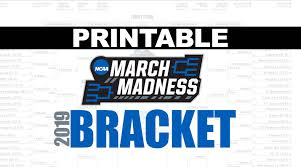 Printable Ncaa Tournament Bracket For March Madness 2019