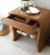 Wood Vanity Bathroom Bathroom Small Bathroom Sink On Oak Wood Vanity With Wall Mirror