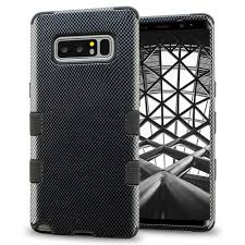 Designer Note 8 Case Samsung Galaxy Note 8 Case Designer Hybrid Slim Fit Polycarbonate And Silicone Tpu Hard Cover Carbon Fiber Black