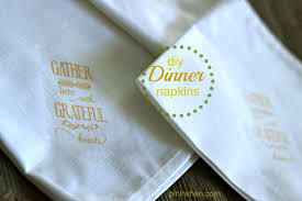 How To Make Fall Dinner Linen Napkins - PinkWhen