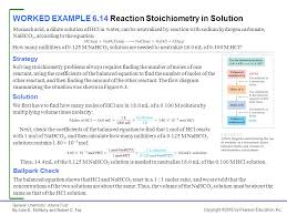 worked example 6 14 reaction stoichiometry in solution