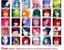 Manic Panic Hair Color Chart Manic Panic Hair Dye Colors