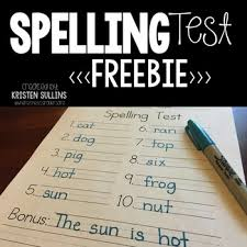 Spelling Test Template Simple Spelling Test Template By Kristen Sullins At Where The First Graders Are