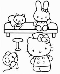 Small Picture 227 best Coloring Hello Kitty images on Pinterest Hello kitty