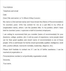 writing recommendation letter 7 recommendation letters for employment download free documents
