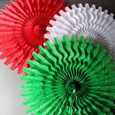 Paper Decorations Christmas Similiar Tissue Paper Fan Christmas Ornaments Keywords