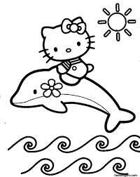 coloring pages to print out. Modren Coloring Print Out Coloring Pages Of Dolphin With Hello Kitty To Coloring Pages Out R