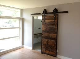 interior sliding barn door bathroom