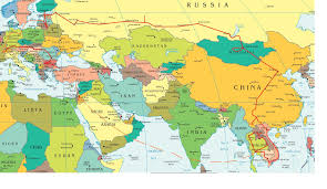 World Map Europe And Asia Eastern Europe And Middle East Partial Europe Middle East Asia