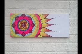original yoga painting omwoman yoga meditate. Mandala Flower Painting On Canvas Original Art By Afairydoor Yoga Omwoman Meditate Y