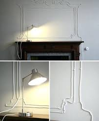 conceal wires on wall faux mirror frame from wire cords best way to hide wires from conceal wires on wall