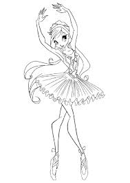 Professional Ballerina Coloring Pages K5 Worksheets