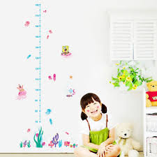 Details About Spongebob Coral Jelly Fish Growth Chart Wall Decals Sticker Kids Nursery Decor