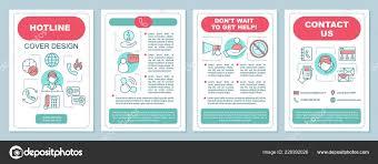 Hotline Brochure Template Layout Emergency Service