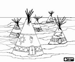 Native Americans Or Indians Coloring Pages Printable Games 2